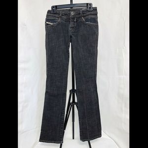 Diesel Rokket Charcoal Gray Wash Straight Jeans